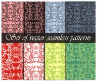 Set of vector floral patterns Stock Photography