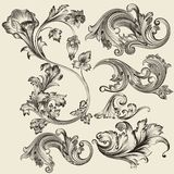 Set of vector flourishes Stock Photos