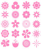 Set of Vector Flowers. Can use for printing and website. Funny advertising for kid Stock Photo