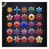 Set of Vector Flowers. Royalty Free Stock Photo