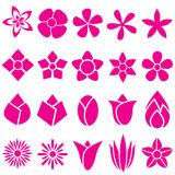 Set Of Vector Flowers Icon And Symbol Stock Photos