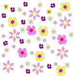 Set of Vector Flowers Stock Image