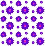 Set of Vector Flowers Royalty Free Stock Image