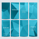 Set of vector flyers. Flyer, web, banner, card, vip, certificate, gift, voucher. Modern business stylish design Stock Images