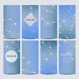 Set of vector flyers. Flyer, web, banner, card, vip, certificate, gift, voucher. Modern business stylish designv Stock Photo