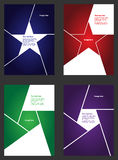 Set of vector flyers Stock Photos