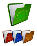 Set vector folder icon Royalty Free Stock Photos