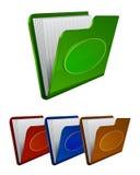 Set vector folder icon Royalty Free Stock Photos