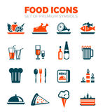 Set of vector food icons Royalty Free Stock Images