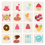 Set of vector food icons Stock Photography