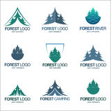 Set vector forest emblems Royalty Free Stock Photo