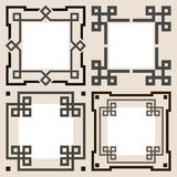 Set of vector frames Stock Photography