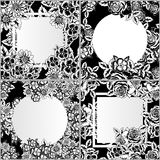 Set of vector frames with flowers Royalty Free Stock Image