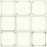 Set of vector frames Royalty Free Stock Photography