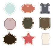 Set of vector frames and labels Stock Photography