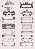 Set Of Vector Frames Ornament Elements. In Antique Style Royalty Free Stock Image