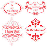 Set of vector frames for romantic design Royalty Free Stock Images