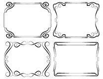 Set of vector framework. Black on white Stock Photography