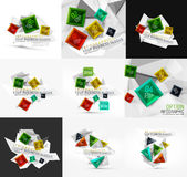Set of vector fresh business abstract infographic Royalty Free Stock Photo