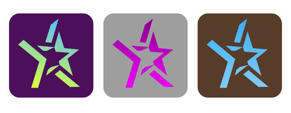 Set of vector funky stars Stock Photos