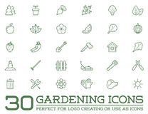 Set of Vector Garden and Farm Elements Royalty Free Stock Images