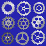 Set vector gears Royalty Free Stock Photography