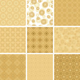 Set of vector  geometric pattern for decorations Royalty Free Stock Images