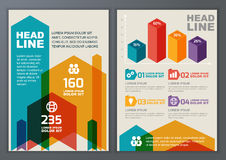 Set of vector geometric template for brochure, flyer, poster, ap Stock Photos