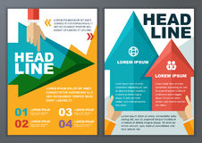 Set of vector geometric template for brochure, flyer, poster, ap. Plication and online service. Colorful polygonal and arrows vector background Vector Illustration