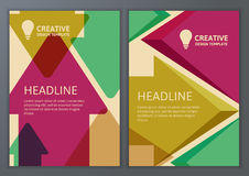 Set of vector geometric template for brochure, flyer, poster. Co Stock Photography