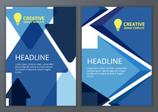 Set of vector geometric template for brochure, flyer, poster. Co Stock Images