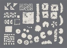 Set of vector geometric textures. Collection patterns stock illustration