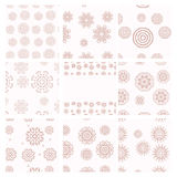 Set of vector geometrical patterns. Vintage textures. Royalty Free Stock Images