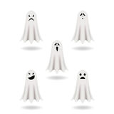 Set of vector ghosts for Halloween design. Stock Photos