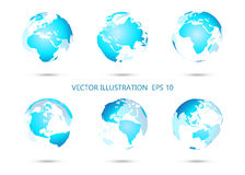 Set of vector globe icons. Stock Images