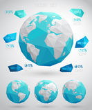 Set of vector globes Royalty Free Stock Image