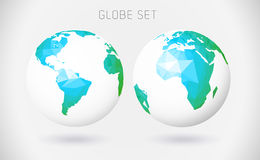 Set of vector globes Stock Photo