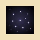 Set vector glowing stars Royalty Free Stock Photos