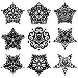 Set of vector graphic abstract ornamental designs Royalty Free Stock Photos