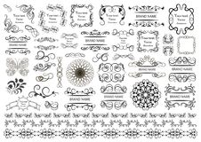 Set of vector graphic elements for design. Royalty Free Stock Image