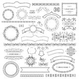 Set of vector graphic elements for design Stock Image