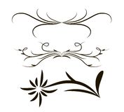 Set of vector graphic elements for design. In the web and printing Royalty Free Stock Photo