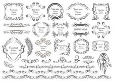 Set of vector graphic elements for design Royalty Free Stock Images