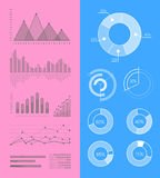 Set of Vector Graphs and Diagrams for Infographics Stock Photos