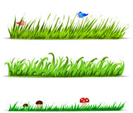 Set of vector grass Stock Images