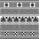 Set of vector greek borders stock illustration
