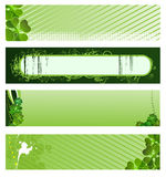 Set of vector green banners. For St. Patrick's Day Royalty Free Stock Photos