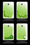 Set of vector green banners. For St. Patricks Day Royalty Free Stock Photos