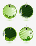 Set of vector green labels Royalty Free Stock Photo