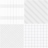 Set of vector grid seamless patterns. Stock Photos